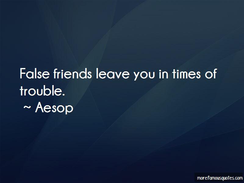 Quotes About False Friends