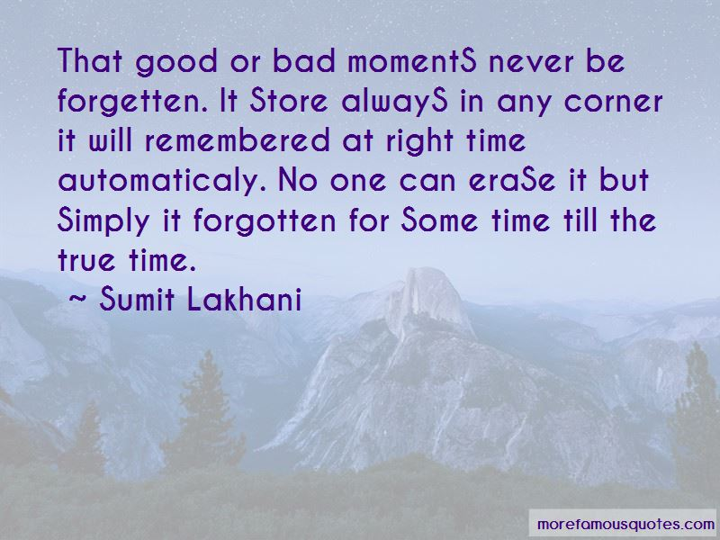 Quotes About Good And Bad Moments