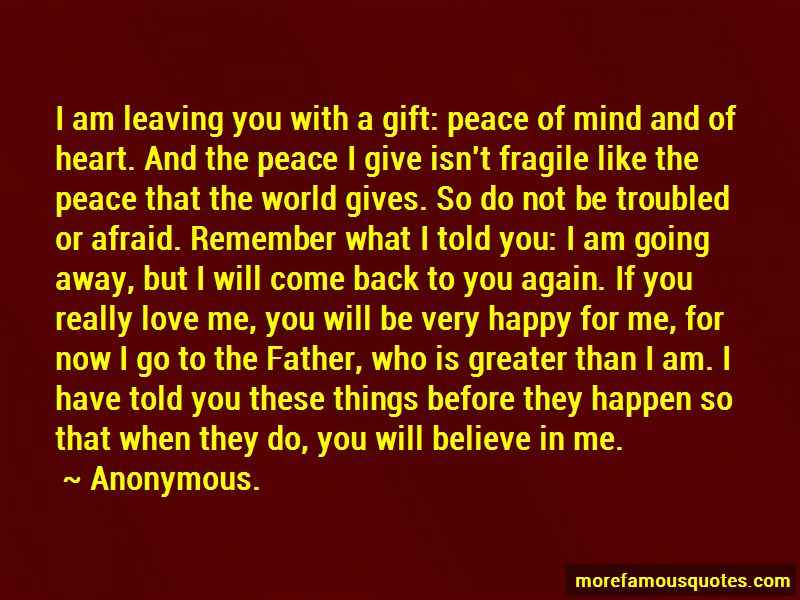 Quotes About I Will Come Back