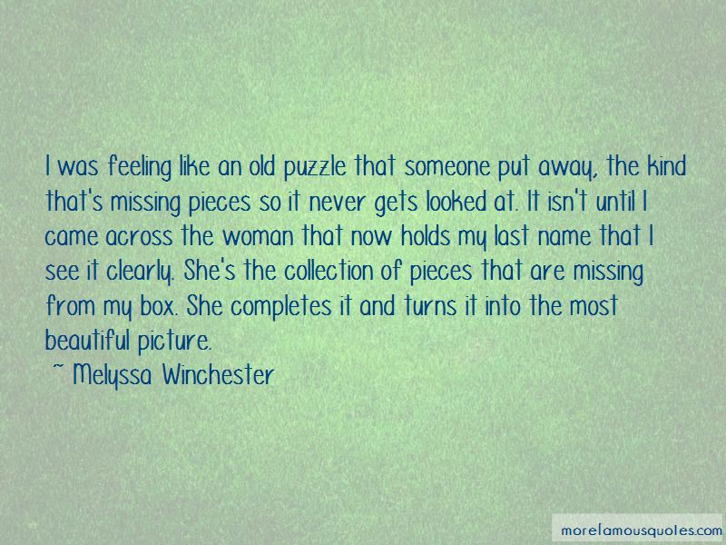 Quotes About Missing Puzzle Pieces
