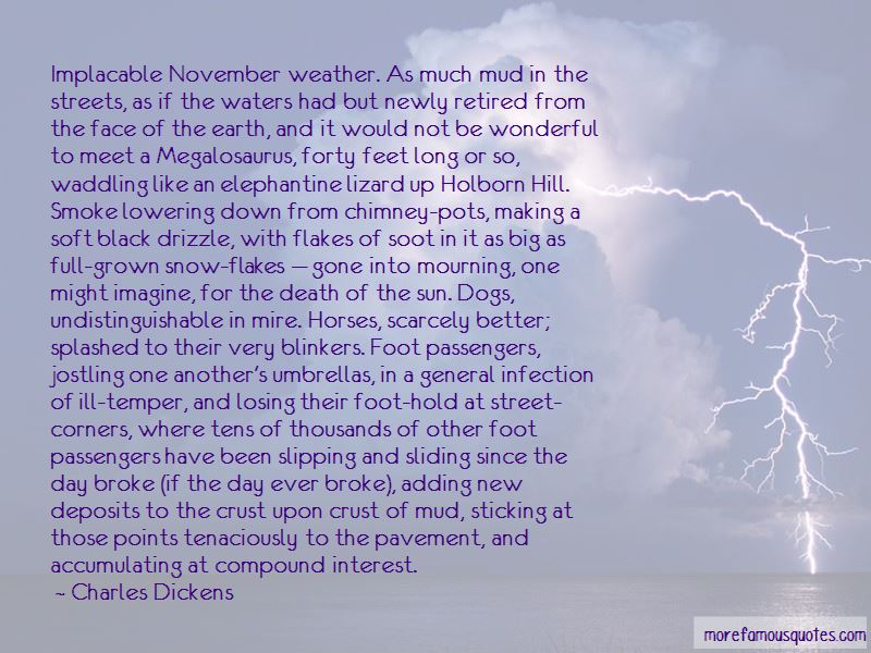 Quotes About November Weather