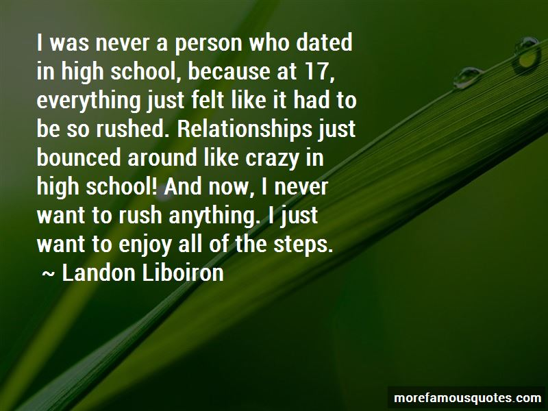 Quotes About Rushed Relationships
