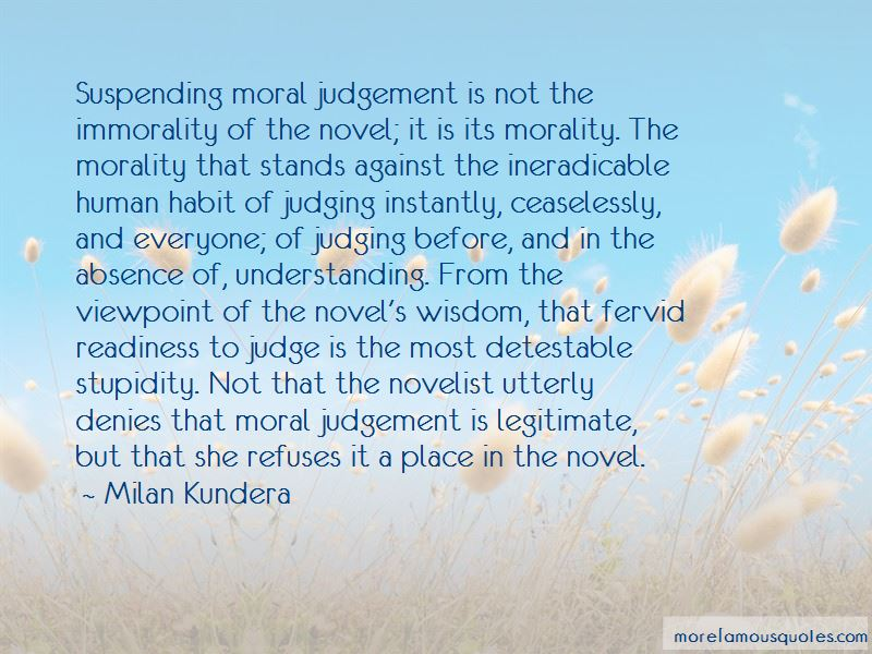 Quotes About Suspending Judgement