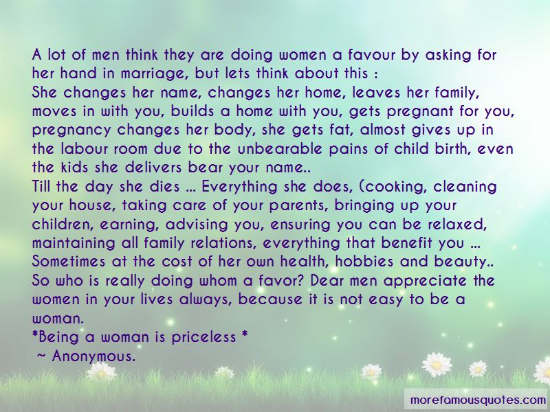 Quotes About Taking Care Of Your Woman