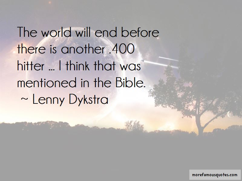 Quotes About The End Of The World In The Bible