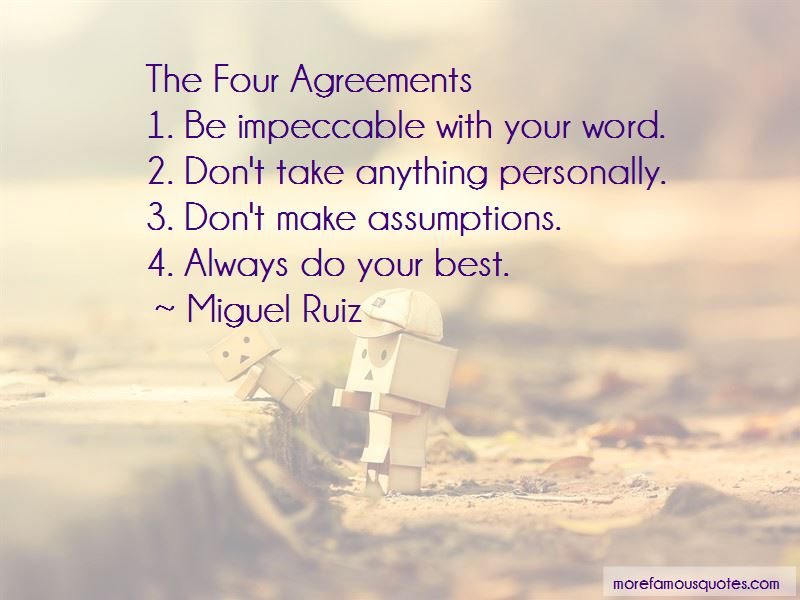 Quotes About The Four Agreements Top 6 The Four Agreements Quotes