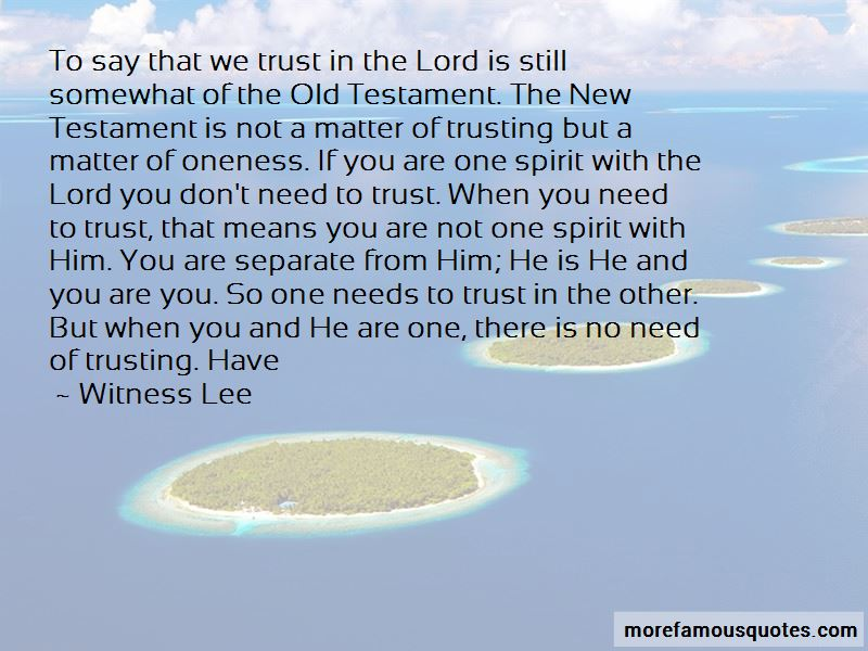 Quotes About Trust From The Old Testament