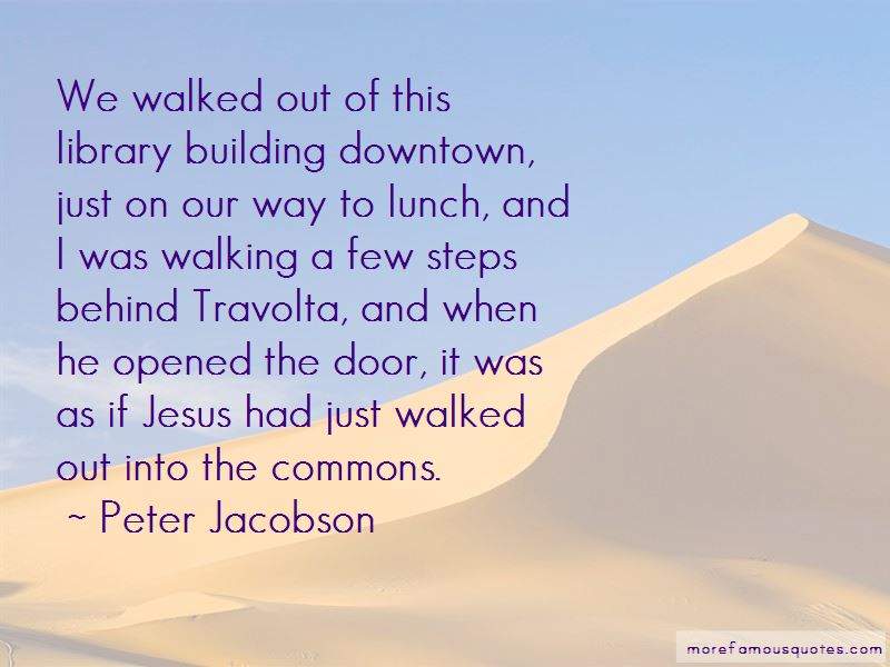 Quotes About Walking Downtown