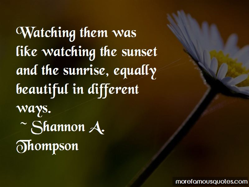 Quotes About Watching The Sunset