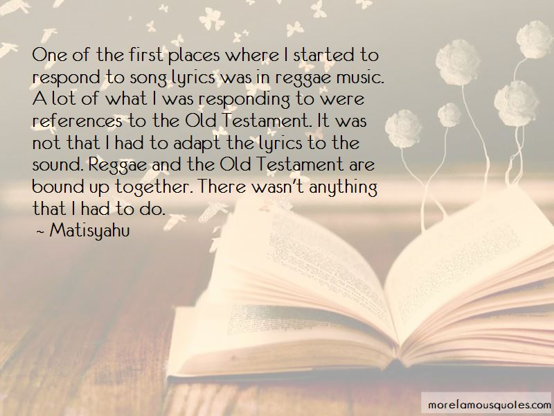 Reggae Song Lyrics Quotes: top 1 quotes about Reggae Song ...