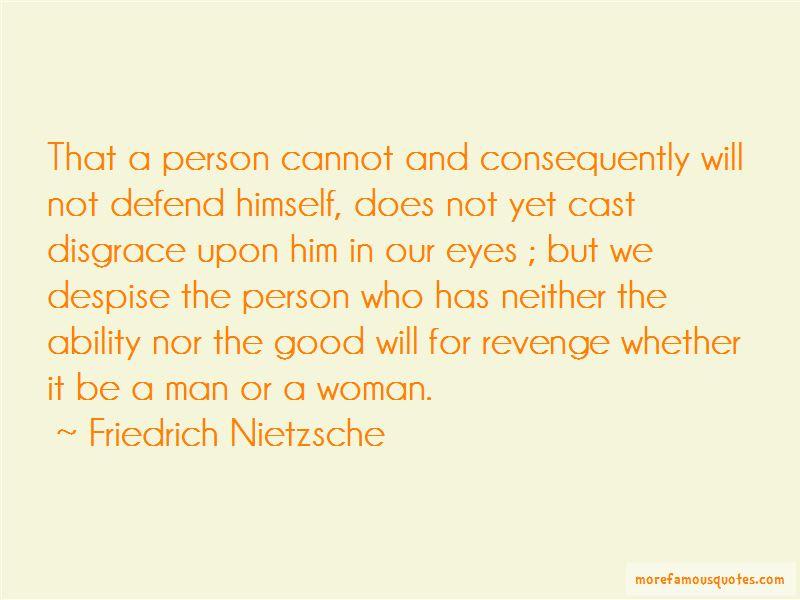 Revenge Disgrace Quotes