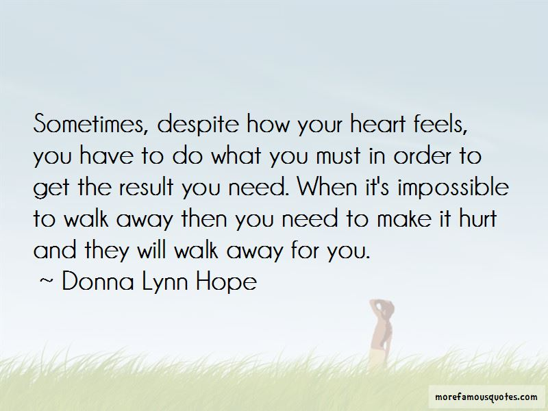 Sometimes You Have To Get Hurt Quotes