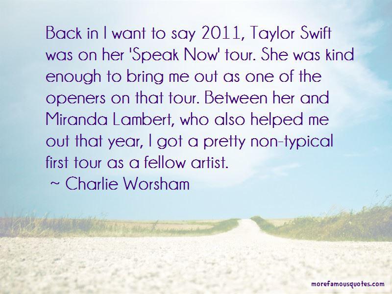 Taylor Swift Speak Now Tour Quotes