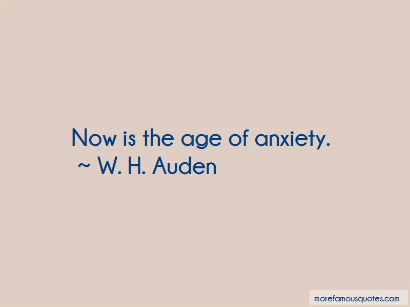 the themes and ideas in age of anxiety by w h auden The first two, with auden's other new poems from 1940 to 1944, were included in his first collected edition, the collected poetry of w h auden (1945), with most of his earlier poems, many in revised versions.