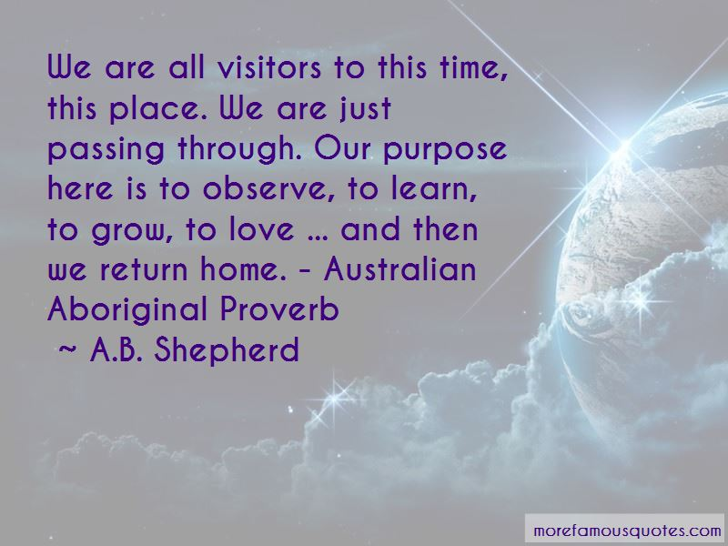 Then We Return Home Quotes