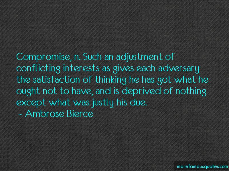 Compromise And Adjustment Quotes