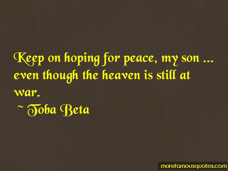 Hoping For Peace Quotes