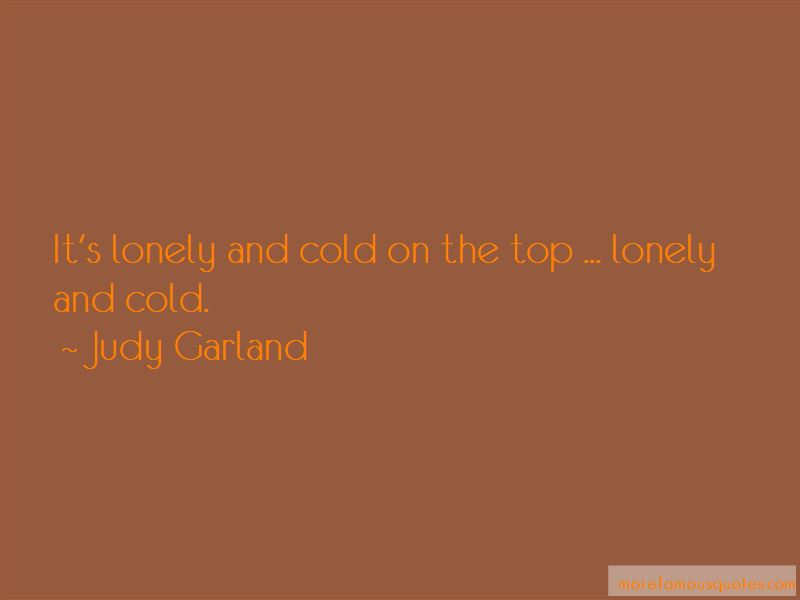 Lonely And Cold Quotes