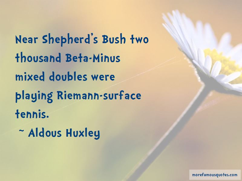 Mixed Doubles Tennis Quotes