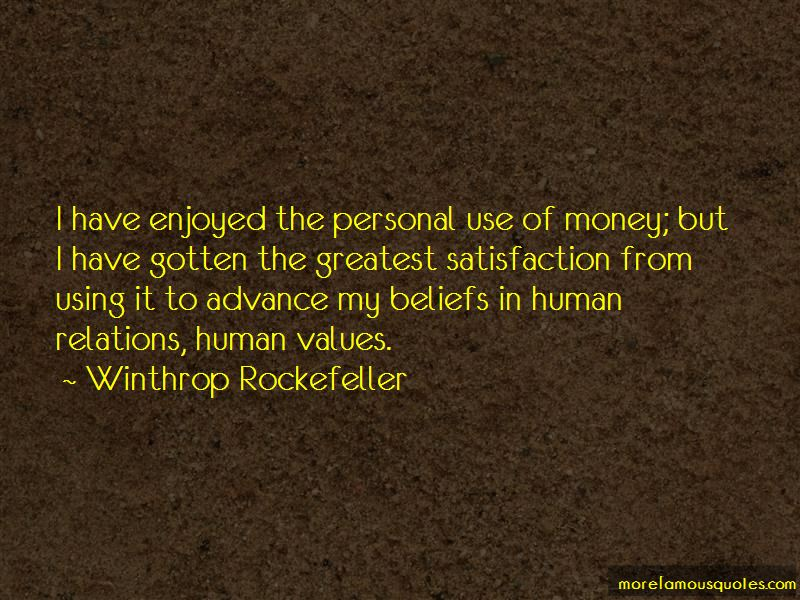 Money And Human Relations Quotes