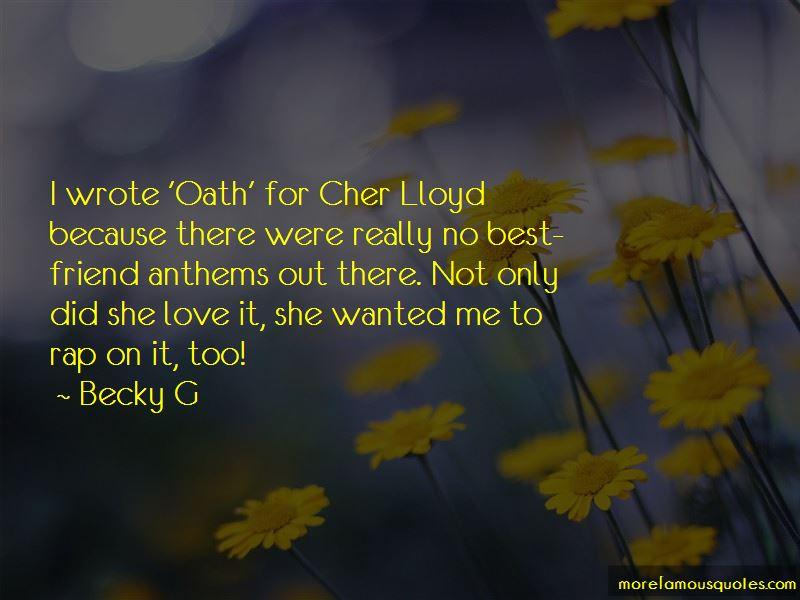 Oath Cher Lloyd Quotes