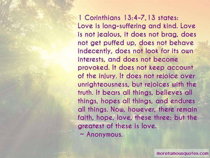 Quotes About 1 Corinthians 13