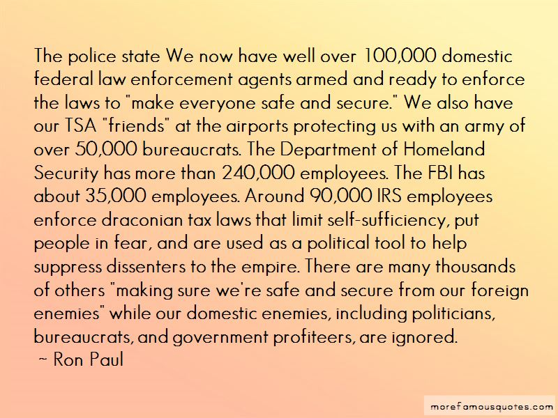 Quotes About Department Of Homeland Security
