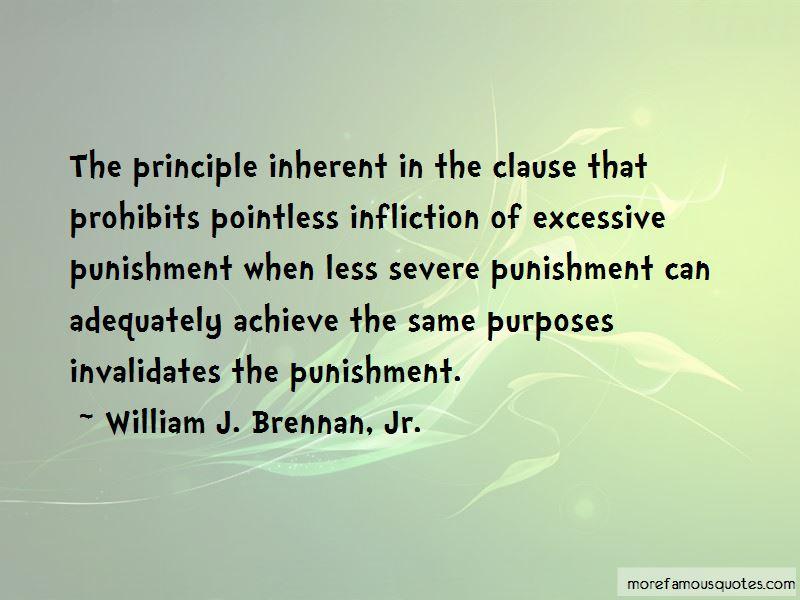 Quotes About Excessive Punishment