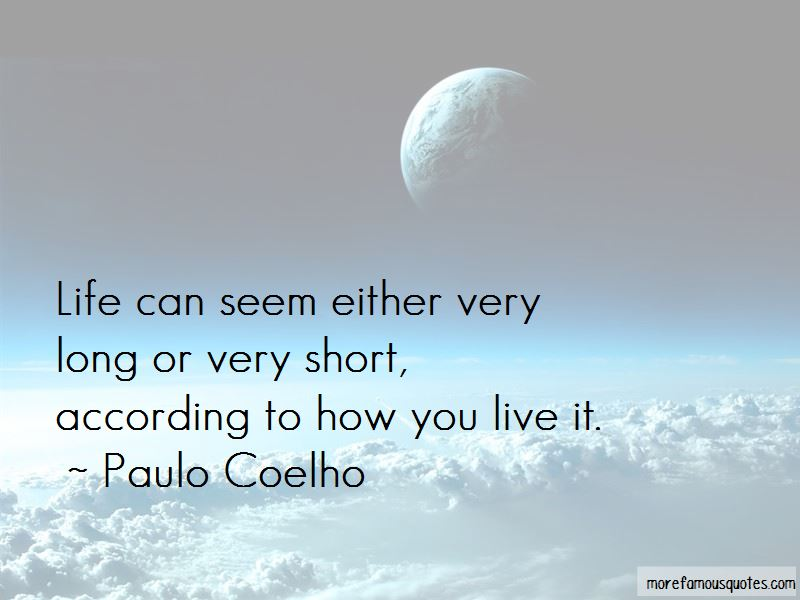 Quotes About Life And How Short It Is