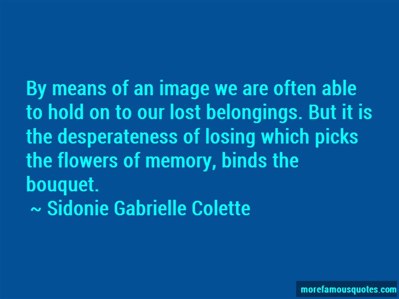 Quotes About Losing Belongings