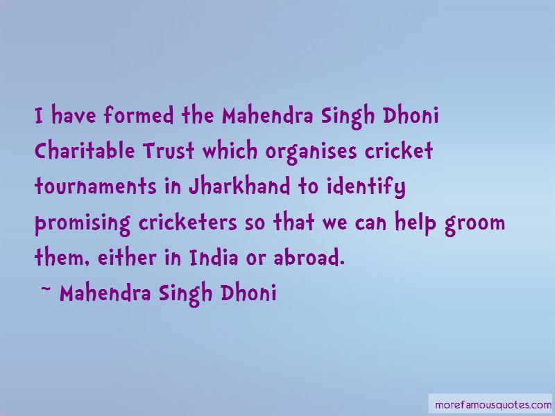 Mahendra Singh Dhoni Quotes Pictures 2