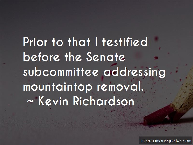 Quotes About Mountaintop Removal