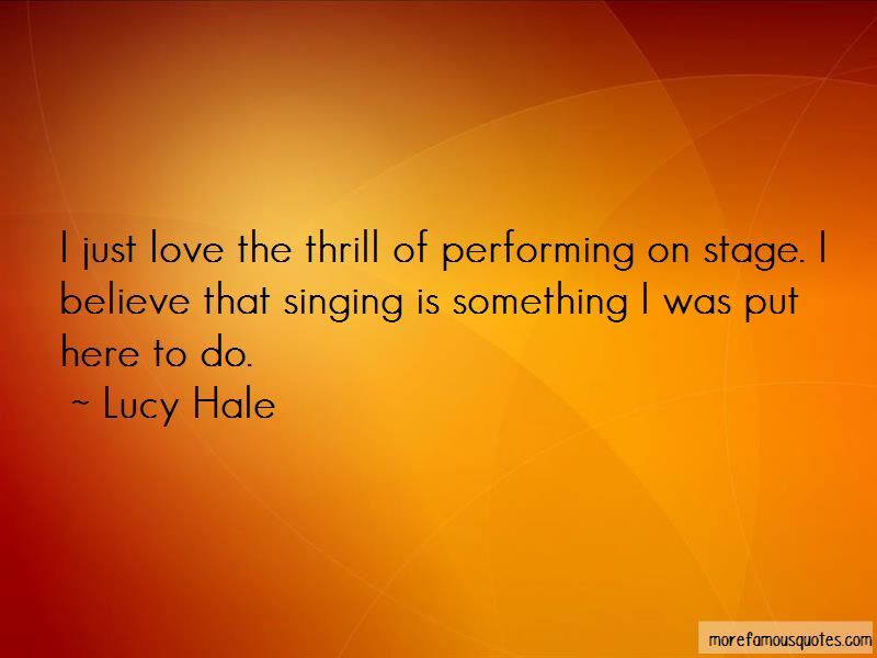 Quotes About Performing On Stage