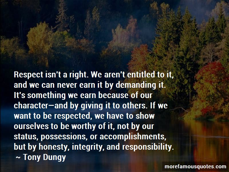 Quotes About Respect And Responsibility Top 38 Respect And