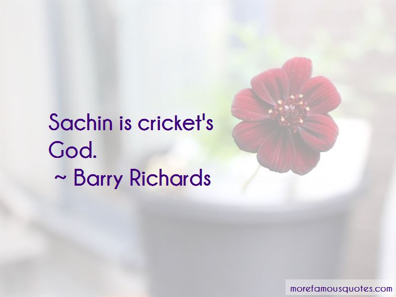 Quotes About Sachin The God