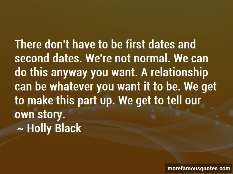 Quotes About Second Dates