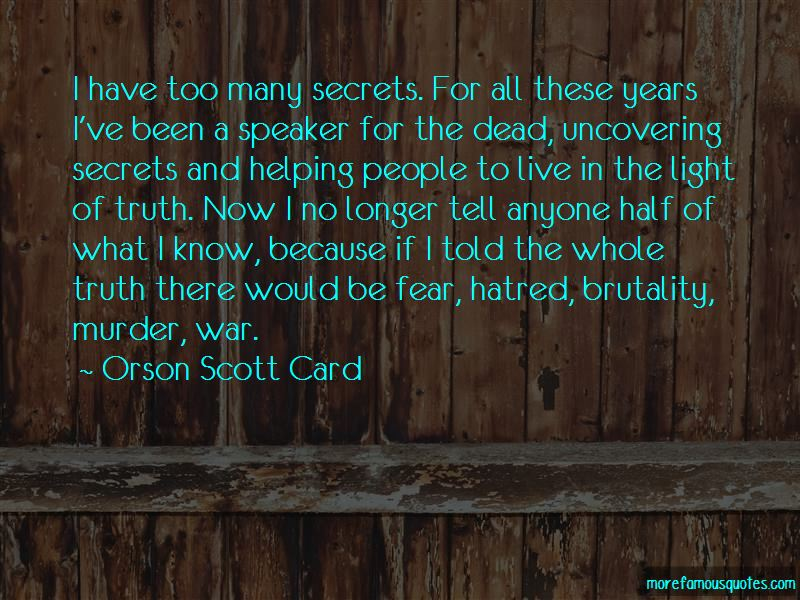 Quotes About Uncovering Secrets