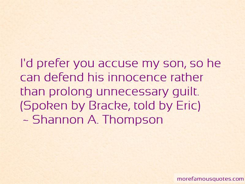 Quotes About Unnecessary Guilt