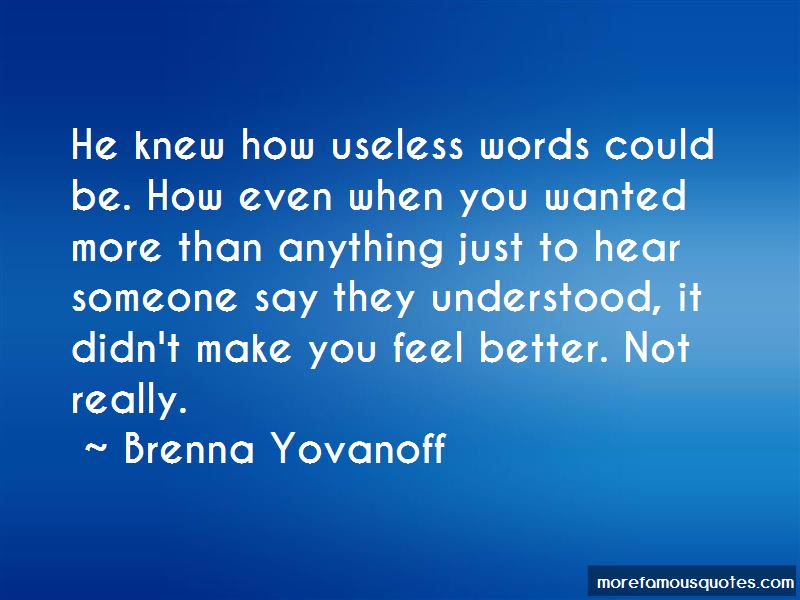 Quotes About Useless Words