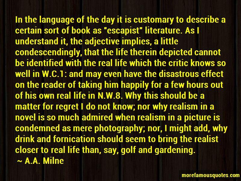 Realism Literature Quotes