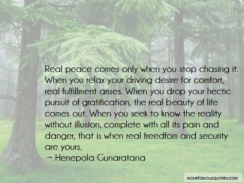 Stop Chasing Life Quotes