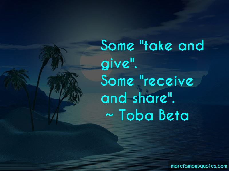 Take And Give Quotes