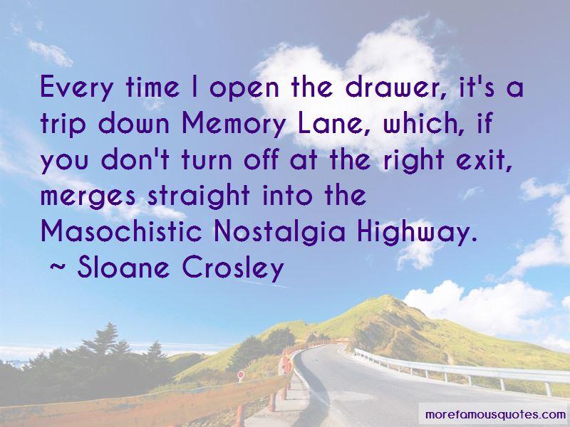Trip Down Memory Lane Quotes