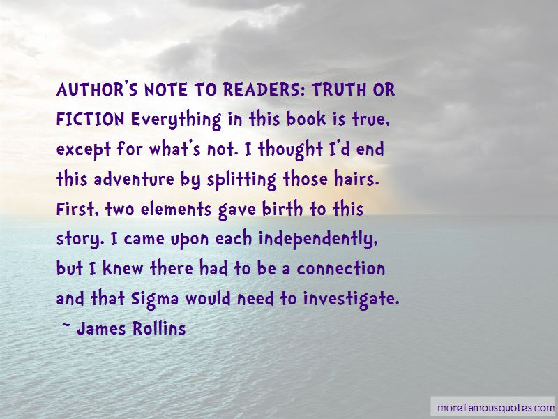 Truth Or Fiction Quotes