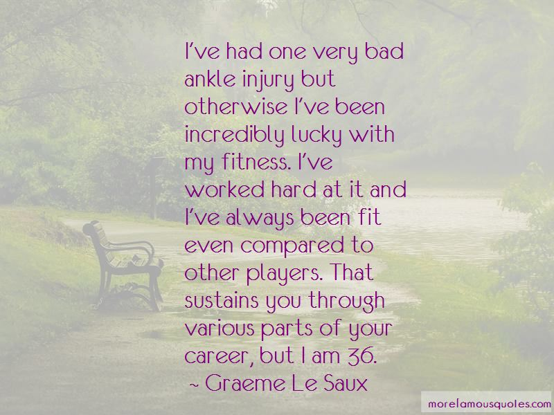 Ankle Injury Quotes