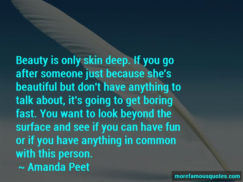 Beauty Beyond Skin Deep Quotes
