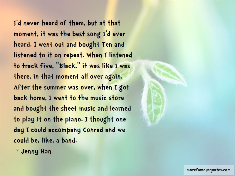 Best Summer Song Quotes: top 1 quotes about Best Summer Song ...