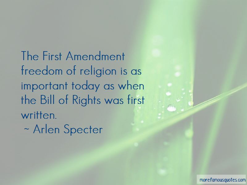 First Amendment Freedom Of Religion Quotes
