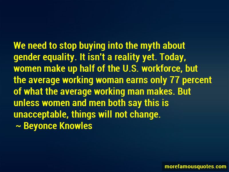 Gender Equality Is A Myth Quotes