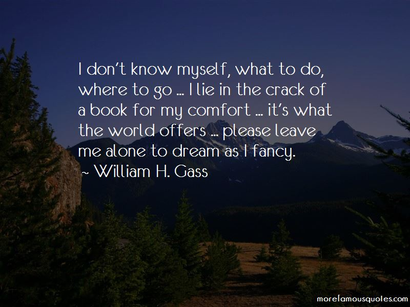 I Don't Know Myself Quotes
